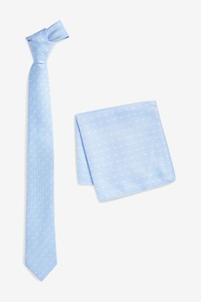 Spot Tie And Pocket Square Set