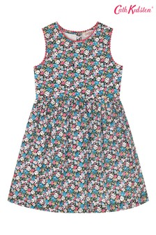 Cath Kidston® White Charlotte Mews Ditsy Small Dress