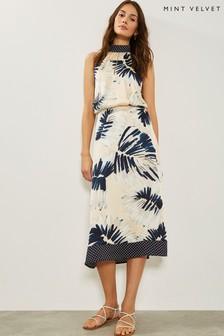 Mint Velvet Summer Print High Neck Dress