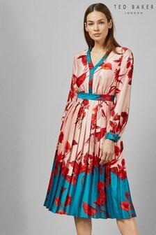 Ted Baker Pink Karolyn Floral Midi Dress