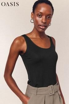 Oasis Black Vest Top