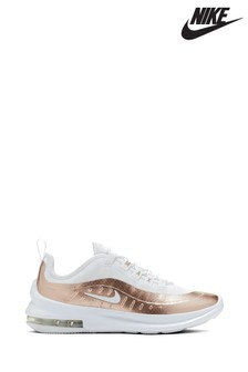 Nike White/Gold Air Max Axis Youth