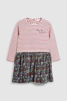 Stripe Long Sleeve Dress (3-16yrs)