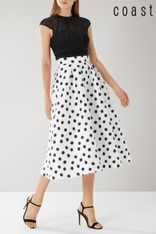 Coast White Cara Spot Skirt