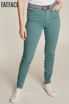 FatFace Green Sadie Skinny Trousers