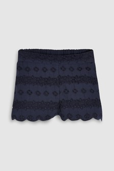 Broderie Shorts (3mths-7yrs)