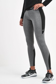 Nike Pro Black/Grey Hyperwarm Leggings