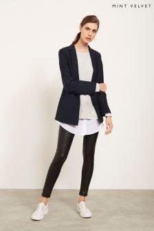 Mint Velvet Black Leather Effect Legging