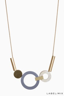 Mix/Wolf & Moon Lora Necklace