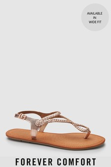 93829712327ff7 Plaited Toe Thong Sandals