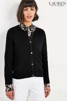 Lauren Ralph Lauren® Black Cropped Cardigan