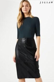Jigsaw Black Pencil Skirt