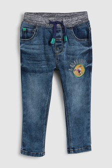 ג'ינס עם מותן גומי וסמלים (3 חודשים-7 שנים)
