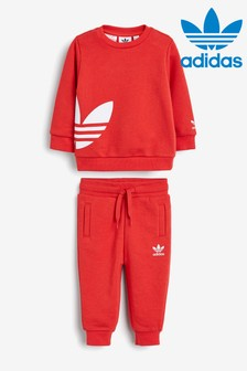 adidas Originals Infant Red Crew And Jogger Set
