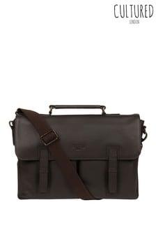 Cultured London Mast Leather Work Bag