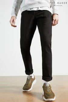 Ted Baker Tarabi Tapered Leg Black Denim Jeans