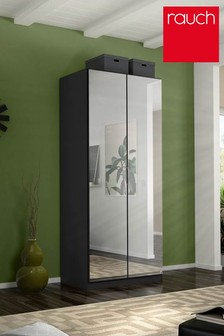Cameron Dark Grey Double Hinged Wardrobe by Rauch
