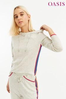 Oasis Multi Grey Rainbow Stripe Jumper