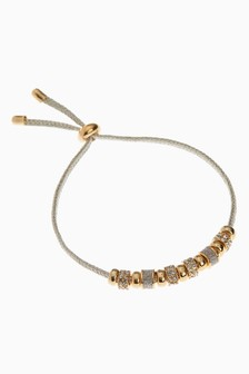 Sparkle Beaded Cord Pully Bracelet