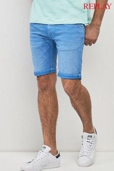 Зауженные джинсовые шорты Replay® Anbass