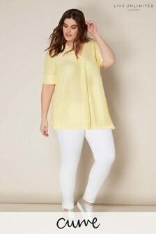 Live Unlimited Lemon V Neck Chambray Shirt
