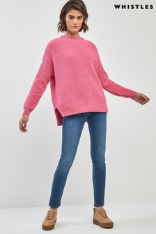 Whistles Skinny-Jeans in mittelblauer Waschung