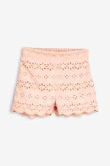 Pantaloni scurți cu broderie (3 luni - 7 ani)