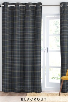 Prince Of Wales Check Eyelet Curtains