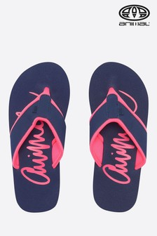 Animal Blue Swish Logo Flip Flop