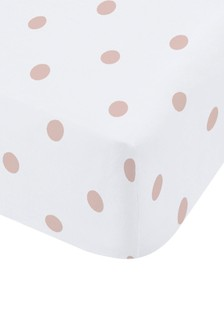 Catherine Lansfield Pink Dotty Brushed Cotton Fitted Sheet