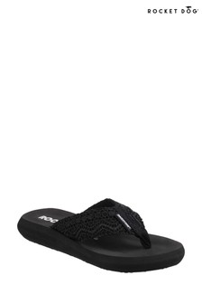 Rocket Dog Black Spotlight Lima Slip-On Sandals