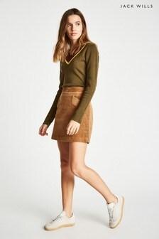 Jack Wills Camel Jacklyn Cord Mini Skirt