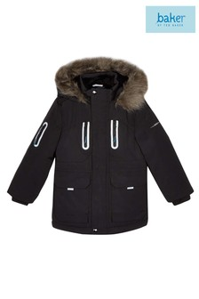 baker by Ted Baker Black Parka