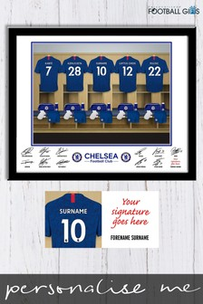Personalised Chelsea Dressing Room Print by Personalised Football Gifts
