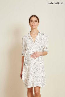 f59d35ad14 Isabella Oliver White Freya Maternity Shirt Dress