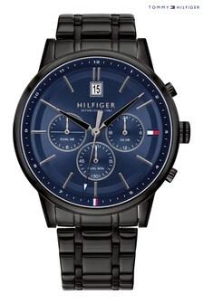 Tommy Hilfiger Watch With Black IP Bracelet