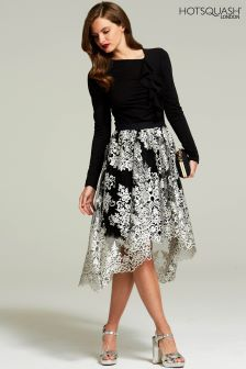 HotSquash Silver Embellished Detail Carrie Skirt