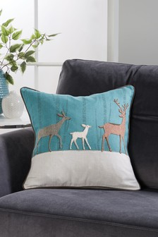 Patchwork Stag Cushion