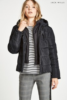 Jack Wills Black Cuffley Padded Jacket