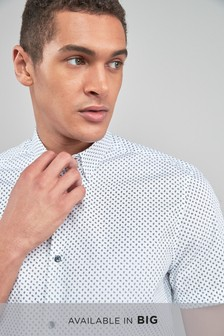 Camisa de manga corta con miniestampado de cachemir