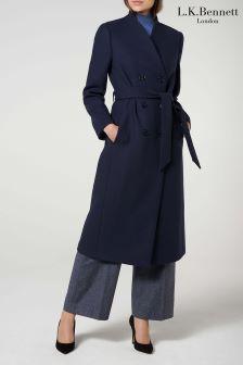 L.K.Bennett Blue Verlee Coat