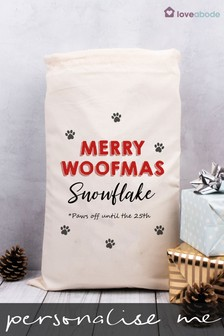 Personalised Merry Pet Present Sack by Loveabode