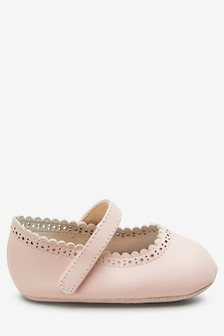 Brogue Mary Jane Pram Shoes (0-18mths)