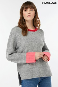 Monsoon Multi Thalia Tipped Colour Pop Jumper