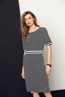 Textured Jersey Jacquard Dress