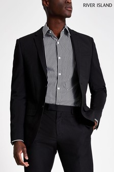 River Island Black/White Stripe Shirt