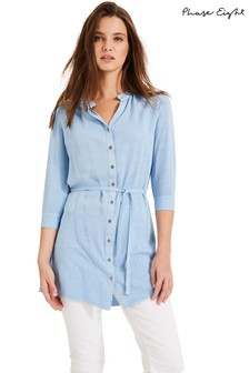 Phase Eight Blue Rebecca Frill Tunic