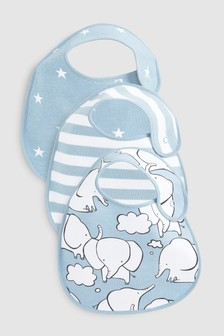 Elephant Character Regular Bibs Three Pack