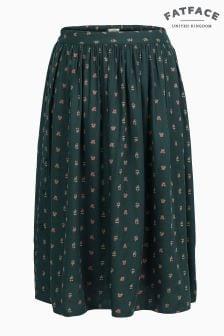 FatFace Green Rebecca Opulent Paisley Skirt