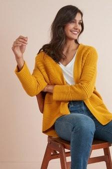 針織開襟毛衣